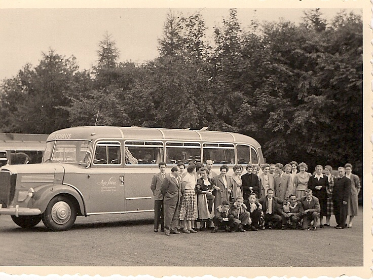 Ausflug an die Saarschleife 1957